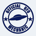 Samolepka na auto Official UFO Mechanic